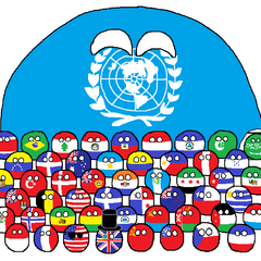 the UN and its founding members (flags of 1945)