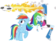 Rainbow dash and rainbow dash by hampshireukbrony-d6m0t1y