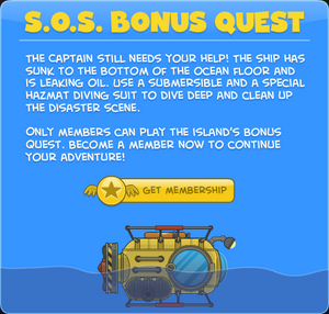 S.O.S. Bonus Quest Screen