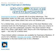 Suit up for Poptropica's birthday