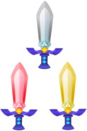 Master Sword, Tempered Sword, and Golden Sword