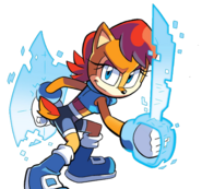 Sally Acorn's digital sword and shield