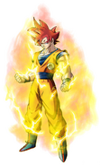 Super Saiyan God Goku by xyelkiltrox