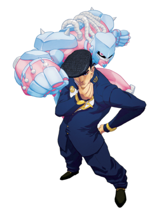 File:Josuke Higashikata and Crazy Diamond.png
