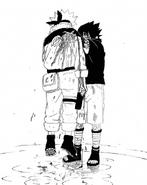 Sasuke Pierces Naruto