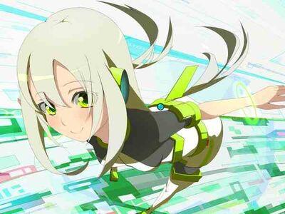 Futuristic long hair green eyes anime white hair anime girls original characters 1500x1125 wallpa wallpaperswa.com 61