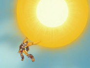 WarGreymon Using Gaia Force