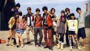 The Goseigers and Shinkengers
