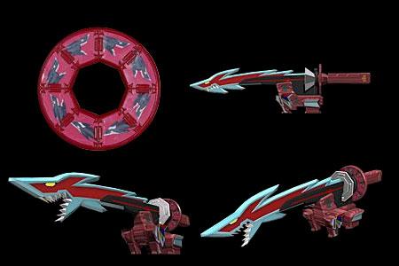 Power Rangers Super Samurai - Shark Zord - YouTube