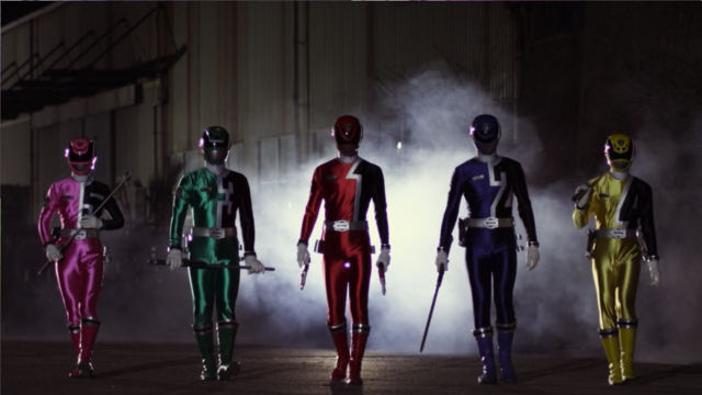 File:Super Mega Rangers as SPD Rangers.png