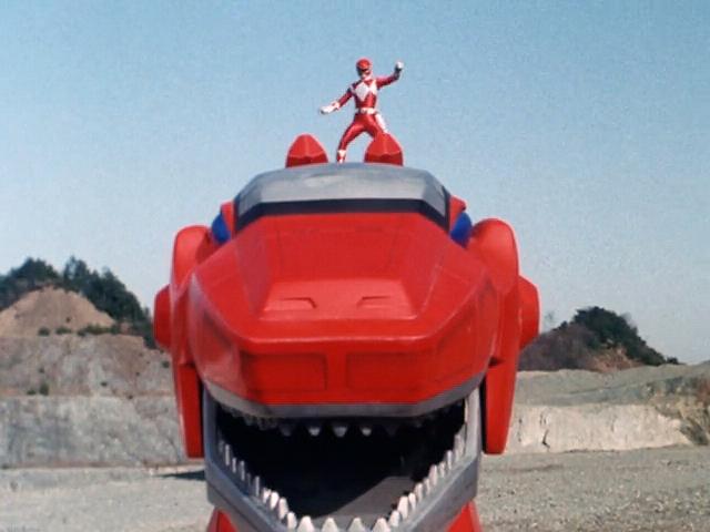 File:Red ranger on zord mmpr.jpg