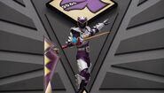 Purple Dino Charge Ranger In Dino Super Drive Mode