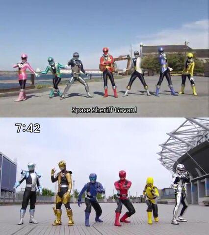 File:Space Sheriff Gavan vs. Super Sentai.jpg