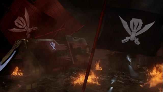 File:The battle-damaged Gokai Galleon.png
