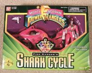Pink Ranger's Shark Cycle