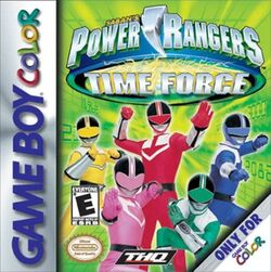 Power Rangers Time Force Game Coverart