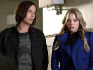 Hanna and caleb at school