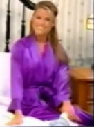 Rachel in Satin Sleepwear-9