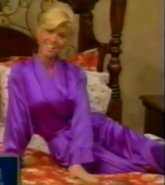 Teri Harrison in Satin Sleepwear-34