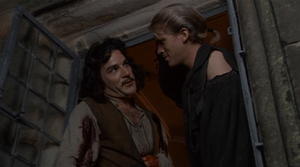 Westley hands over the name Dread Pirate Roberts to Inigo