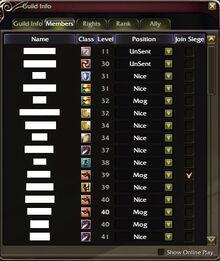 Guildmemberlist
