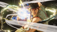 Ryu about to blast a Hadoken in Street Fighter V