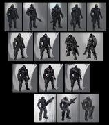 Blackwatch concept art process 1