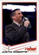 2013 WWE (Topps) Justin Roberts (No.20)