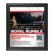 Charlotte Royal Rumble 2017 15 x 17 Framed Plaque w Ring Canvas
