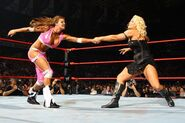 No Mercy 2007 Beth Phoenix vs Candice Michelle 001