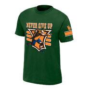 John Cena 15X Green Authentic T-Shirt