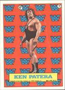 1987 WWF Wrestling Cards (Topps) Sticker Ken Patera 18