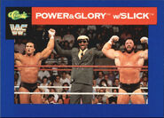 1991 WWF Classic Superstars Cards Power & Glory with Slick 117
