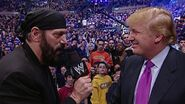 Donald Trump and Jesse Ventura (left) at Wrestlemania XX March 2004