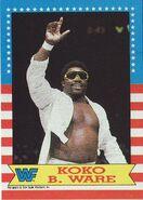 1987 WWF Wrestling Cards (Topps) Koko B. Ware 5
