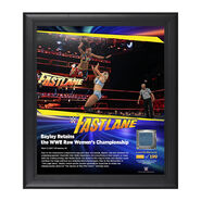 Bayley FastLane 2017 15 x 17 Framed Plaque w Ring Canvas