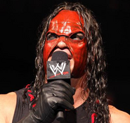 Masked Kane on the mic