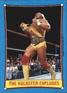 1987 WWF Wrestling Cards (Topps) The Hulkster Explodes 26