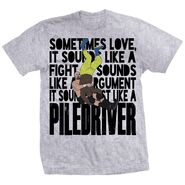 Adam Pearce Love Is A Piledriver Shirt