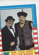 1987 WWF Wrestling Cards (Topps) Mr. Fuji & Killer Khan 17