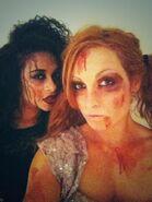 Jojo and Becky Lynch 2013 NXT Halloween