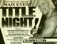 Saturday Night's Main Event XII Ad