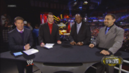 Josh Mathews, Alex Riley, Booker T & Santino Marella - WWE Night of Champions 2013 panelist team