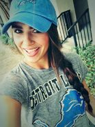 Veronica Hammond is a Detroit Lions fan