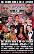 10154001 I Believe in Wrestling May 3, 2014 poster