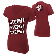 Stephanie McMahon Steph Steph Steph Women's V-Neck T-Shirt