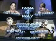 Spike Dudley vs Billy Kidman vs Chavo Guerrero vs Rey Mysterio