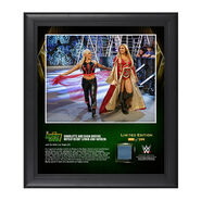 Charlotte and Dana Brooke Money In The Bank 2016 15 x 17 Framed Photo w Ring Canvas