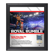 Randy Orton Royal Rumble 2017 15 x 17 Framed Plaque w Ring Canvas