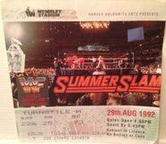 SummerSlam 1992 event ticket